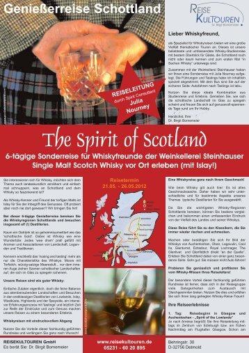 Genießerreise Schottland - Weinkellerei und Erzeugergemeinschaft ...