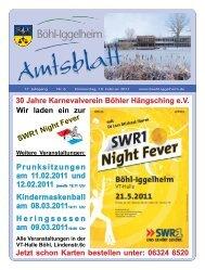 Amtsblatt vom 10.02.2011 (KW 6) - Gemeinde Böhl-Iggelheim
