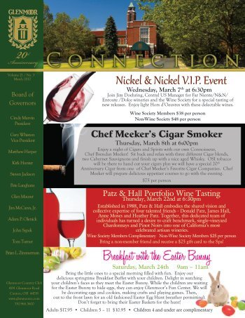 March 2012 Newsletter - Glenmoor Country Club