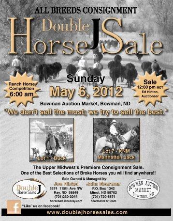 May 6, 2012 - Double J Horse Sales