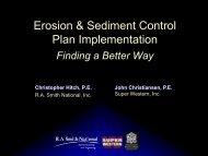 Erosion & Sediment Control Plan Implementation - Clean Ways for ...