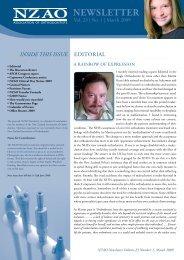 NEWSLETTER - New Zealand Association of Orthodontists