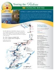 Touring the Rideau - Rideau Heritage Route