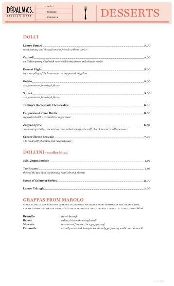 Fiorello S Cafe Menu