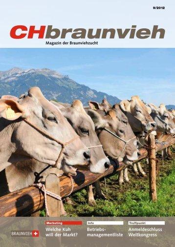 CHbraunvieh 09-2012 - Schweizer Braunviehzuchtverband