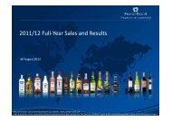 Download the Presentation - Pernod Ricard