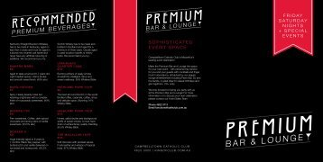 Premium Bar Menu (PDF) - Campbelltown Catholic Club