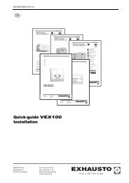 Quick-guide VEX100 Installation - exhausto.de
