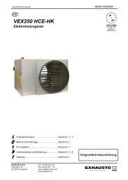 VEX250 HCE-HK Elektroheizregister - exhausto.de