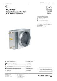 HCW für VEX320,330 mit und  ohne EXact2 - exhausto.de
