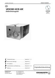 VEX280 HCE-HK Elektroheizregister - exhausto.de