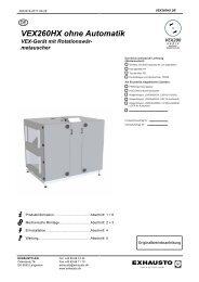 VEX260HX ohne Automatik VEX-Gerät mit Rotationswär - exhausto.de