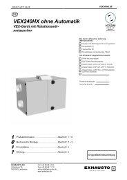 VEX240HX ohne Automatik VEX-Gerät mit Rotationswär - exhausto.de
