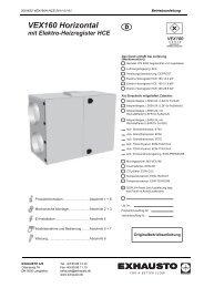 VEX160 Horizontal mit Elektro-Heizregister HCE d - exhausto.de