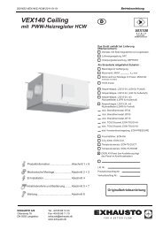 VEX140 Ceiling mit PWW-Heizregister HCW d - exhausto.de