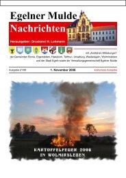 Egelner Nachrichten November 2008 - Druckerei Lohmann