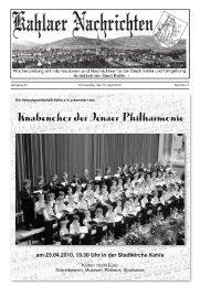 Kahlaer Nachrichten - Ausgabe Nr. 07 - 15. April 2010