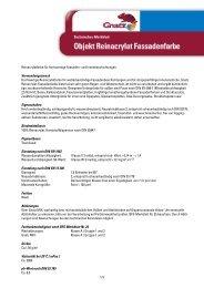 Reinacrylatfarbe für hochwertige Fassaden - Louis Gnatz GmbH
