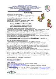 Einladung - Verein Kinder brauchen Eltern