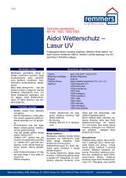 Aidol Wetterschutz – Lasur UV - Remmers Baltica