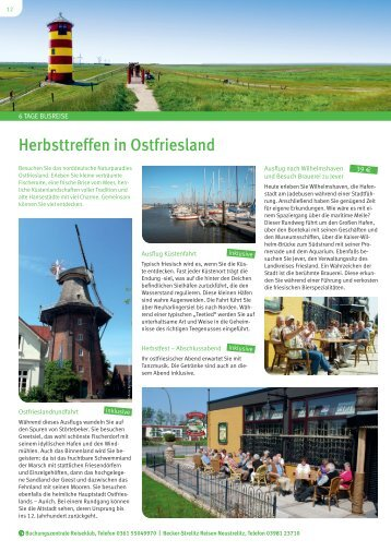 Herbsttreffen in Ostfriesland - Becker-Strelitz Reisen GmbH