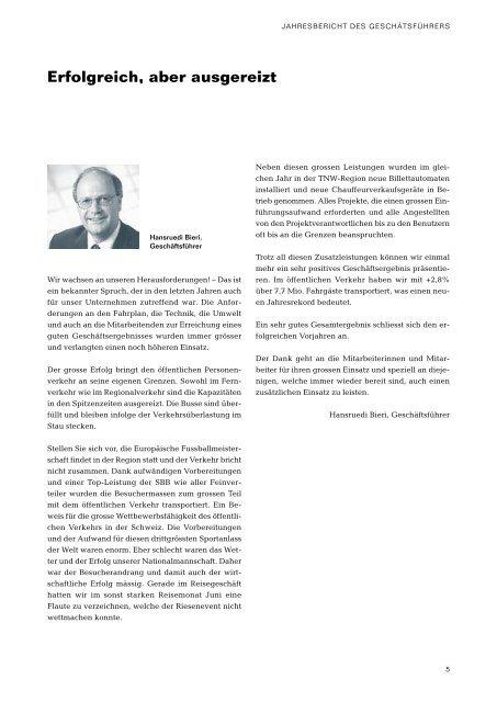 Geschäftsbericht 2008 - Autobus AG Liestal
