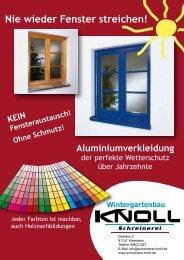 Nie wieder Fenster streichen!