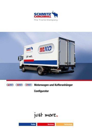 Motorwagen und Kofferanhänger Configurator - Hansetrailer