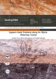 GYPSUM KARST PROBLEMS ALONG
