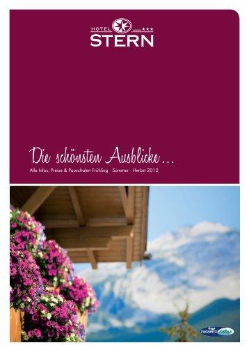 Die schönsten Ausblicke … - Hotel Restaurant Stern Ehrwald