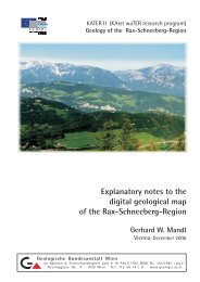 Explanatory notes to the digital geological map of the Rax ... - KATER