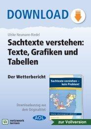Sachtexte verstehen: Texte, Grafiken und Tabellen - Netzwerk Lernen