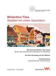 Zeitung Tag des Denkmals 2006 - Departement Bau - Winterthur