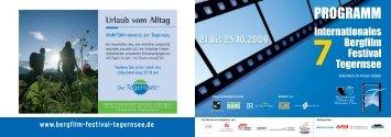 Samstag, 24. Oktober 2009 - Bergfilm Festival Tegernsee