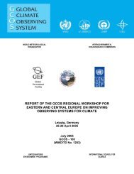 report of the gcos regional workshop for eastern and central ... - WMO
