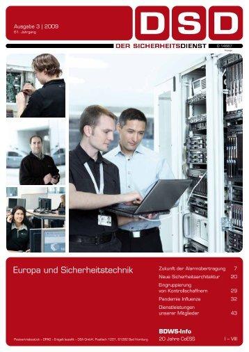 Europa und Sicherheitstechnik - BDSW