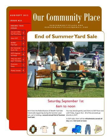 August/September - Our Community Place