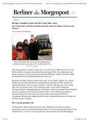 Berliner Familien setzen auf ein Leben ohne Auto - Club der ...