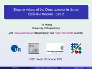 Singular values of the Dirac operator in dense QCD-like ... - Ect