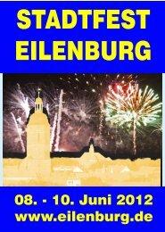 08. - 10. Juni 2012 www.eilenburg.de - Kulturunternehmung Eilenburg