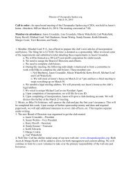 Board Meeting Minutes 3-16-10 - Chesapeake Spokes