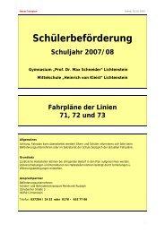 Schülerbeförderung - Gymnasium Prof. Dr. Max Schneider