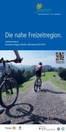 Die nahe Freizeitregion. - Tourismus Region Zürcher Oberland
