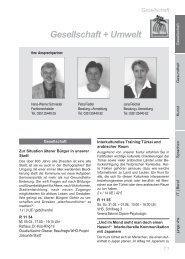 Gesellschaft + Umwelt - Volkshochschule Dresden