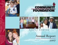 Annual Report 2007 - Chautauqua Region Community Foundation