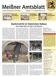 Baufortschritt im historischen Rathaus - Stadt Meißen