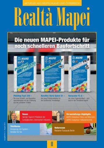 Die neuen MAPEI-Produkte für