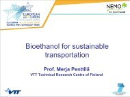 Bioethanol for sustainable transportation - Nemo - VTT