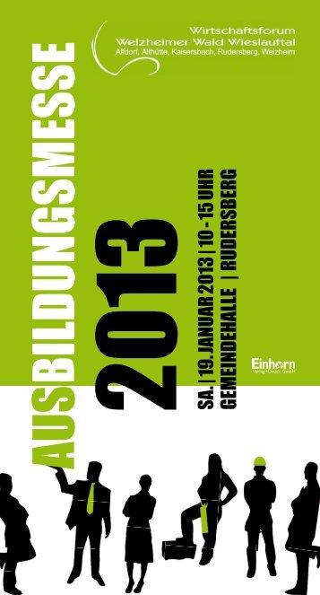SA. | 19. JANUAR 2013 | 10 - 15 UHR GEMEINDEHALLE | RUDERSBERG ...