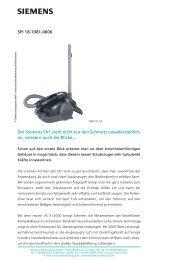 SPI 18-1081-0606 Der Siemens SX1 zieht nicht nur den Schmutz ...